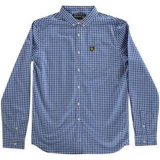 Lyle and Scott Blue Checked L/S Shirt