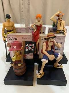 One piece figures with poker cards