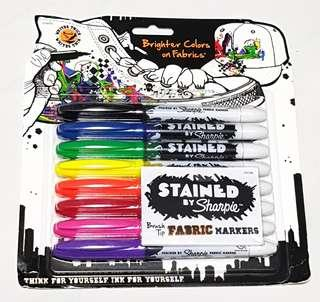 Instock: Stained By Sharpie Brush Tip Fabric Markers (8pcs)