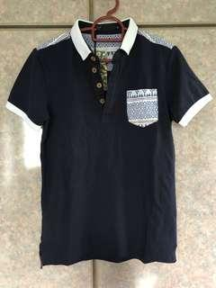 BNWY Ames Bros Boy Polo Collar Tee