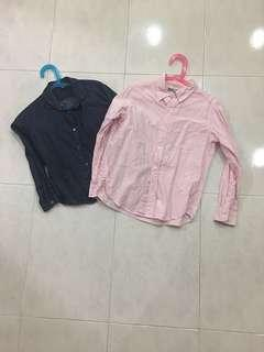 Uniqlo girls oxford shirts 2 for $13 mailed