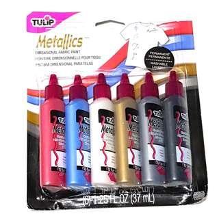 Tulip 3D Metallics Dimensional Fabric Paint (6pcs)