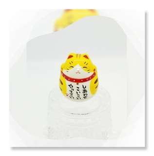 100% New Made in Japan 金沢 藥師窯 可愛 不倒翁 ( 金運千客万來 招財貓 ) 一個 YAD - 100