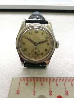 1940s LAVINA Gents Vintage Stainless Steel Swiss Watch