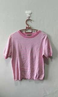 Stripe knitted t shirt