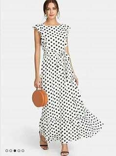 😊Polka Maxi dress