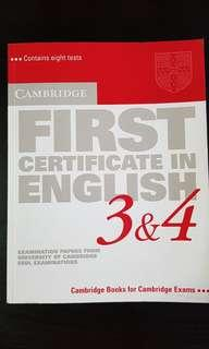 Cambridge FCE Books 3 & 4