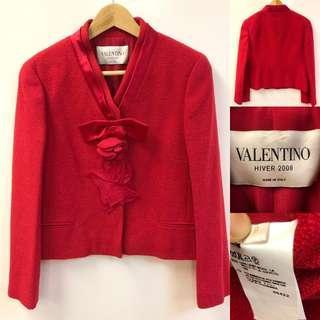 Valentino red jacket coat size 8