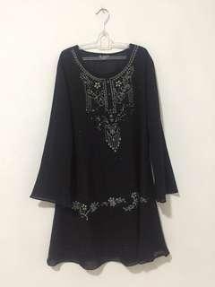 Baju/Atasan/Blouse Tunik Hitam