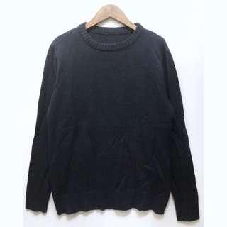🚚 古著深藍色針織毛衣