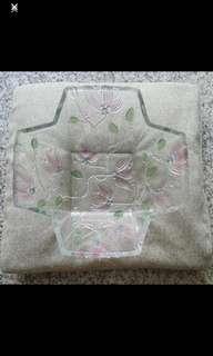 Crystal Salad Bowl 27(L) x 27(W) x 10(H)