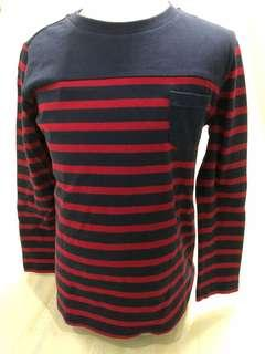 Size 120:  Uniqlo Stripes shirt Long sleeves