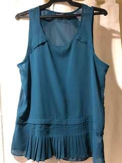 American Eagle Outfitters Bluegreen Top (Used Once)