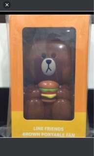 Brand New Line Friends Brown Portable Fan!