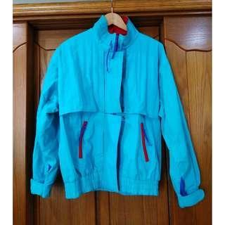 早期摩登時代 美好時光 兩件式  撞色 登山防寒老外套 古著
