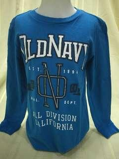 Size 5:  Old Navy blue Long sleeves