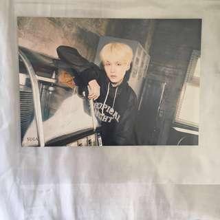 Yoongi Suga Tower Records Flyer Crystal Snow/Mic Drop/DNA Japanese Album