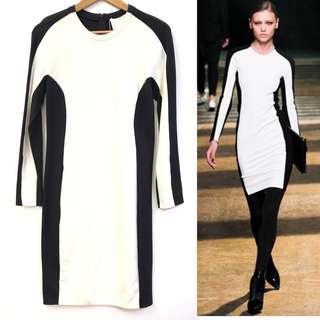斯文裙 3.1 phillip lim black with white dress size 6