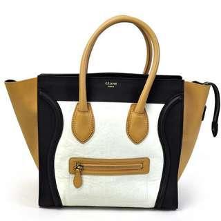 Authentic Celine TriColor Calfskin Luggage Bag