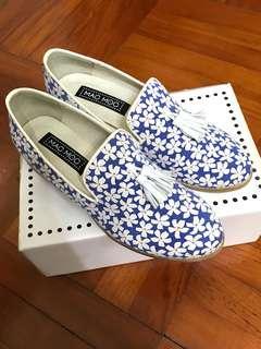 MACMOC 藍白碎花Slip-on✨ 全新 購自首爾Aland門市