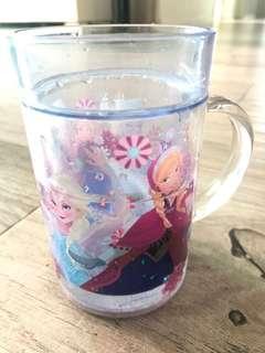 Disney Frozen Elsa Anna雙職閃粉水杯