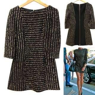 Victoria Beckham black with gold dress size F36