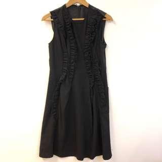 斯文裙 Comme des garçons black vest dress size M