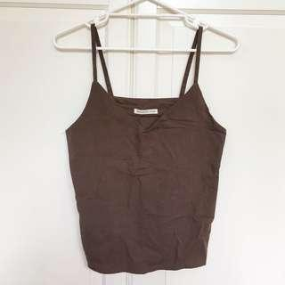 Earthy brown cami cotton top