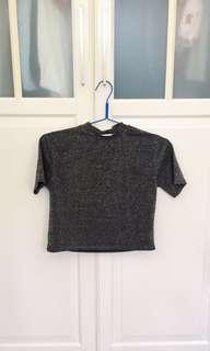 Urban outfitters black glitter top