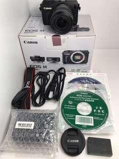 🚚 Canon EOS M + 18-55mm 公司貨 微單眼 盒裝