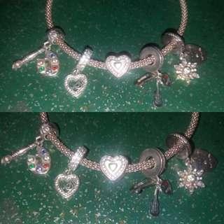 Preloved Pandora Sterling Silver 92.5 ale charms