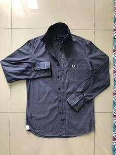 Fred perry chambray long sleeve button shirt
