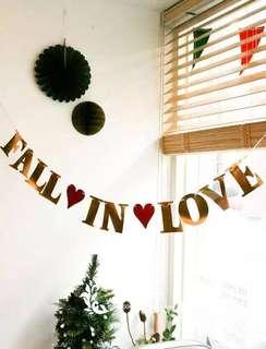 Fall in love Hanging Banner