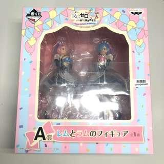 Rem and Ram Re zero anime figure