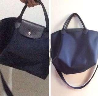 Navy Blue Long Champ Bag