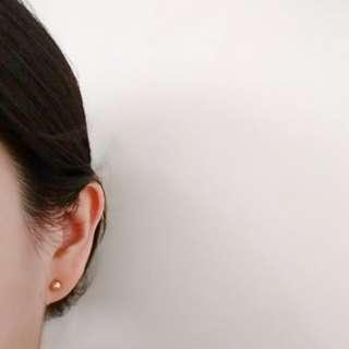 Small Genuine 10k gold earrings