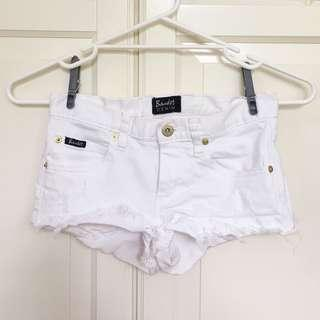 Bardot white denim shorts