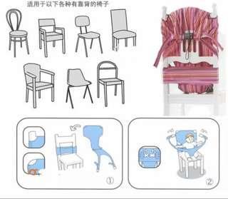嬰兒餐椅固定帶
