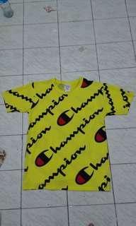 Kaos Champion Yellow Original Brand New Termurah