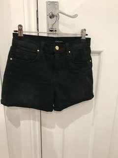 J Brand black denim shorts