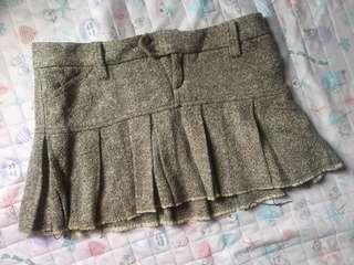 Zara tweed mini skirt 毛料迷你裙 (厚身,適合秋冬,胖妹妹)