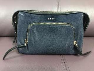 DKNY手袋(真皮加馬尾毛)