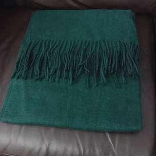 包順豐站 墨綠色頸巾 披肩 圍巾 Scarf