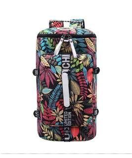 ✅ Korean style 33L leisure/travel canvas backpack dark pink