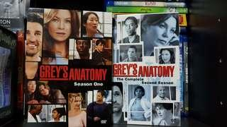 Pre-loved Original Grey's Anatomy Season One and Two DVDs