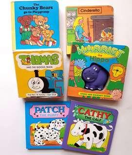 Various kids block books