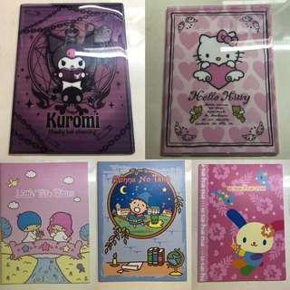 絕版 sanrio 記事簿系列 hello kitty kuromi 大口仔 usahana little twins star