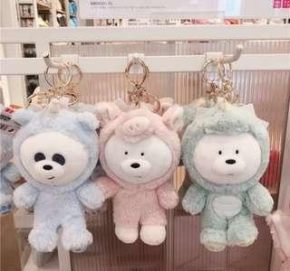 We bare bears keychain plushy