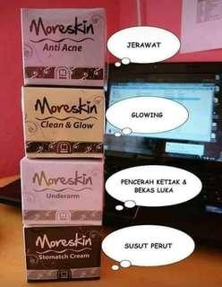 Moreskin cream anti acne, clean n glow, underarm, stopmatch
