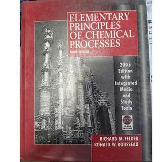 (Hardcover) Elementary Principles of Chemical Processes 3rd Third Edition by Richard M. Felder and Ronald W. Rousseau